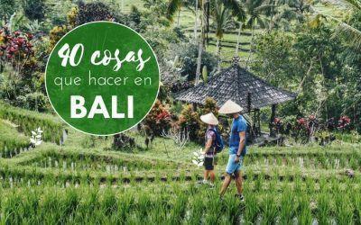 40 cosas que hacer y ver en Bali