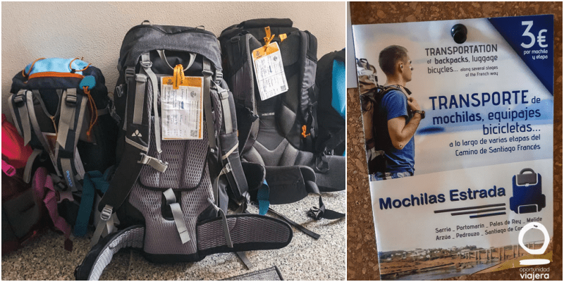 Traslado de mochilas Camino de Santiago